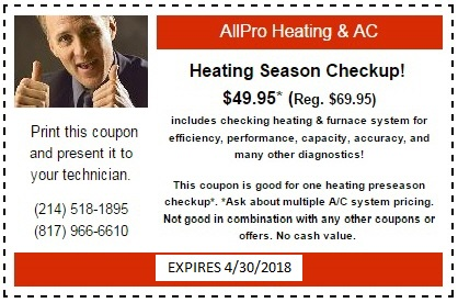 Heating Checkup Coupon